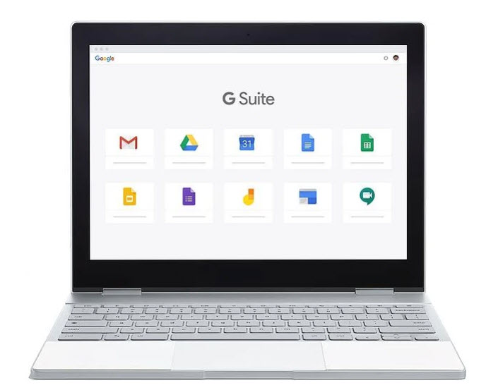 Laptop met G Suite