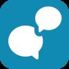 icoon gesprek voeren